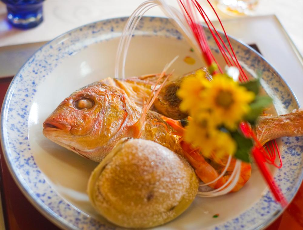 旬菜おかむら 鯛の尾頭付